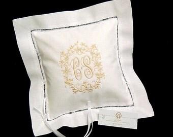 Irish Linen Ring Bearer Pillow, Style 5209