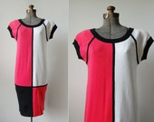 Bill Blass Color Block Dress • 1980's Knit Dress