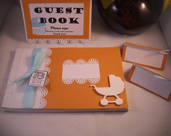 Vintage Baby Shower Guest Book Album (MTO)