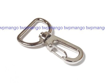 100 Silver Metal Lobster Swivel Clasps Clips H45-100