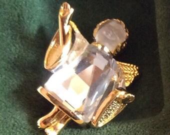Swarovski Crystal Memories Angle Pin Brooch with Box