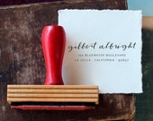Calligraphy Return Address Stamp // Custom // DRIFT