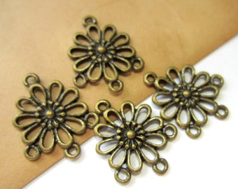 20 pc. Antiqued bronze connectors Tibetan style jewelry findings 23mm x 19mm jewelry dangles 8171Y