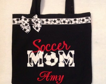 Personalized Tote Bag, Personalized Tote, Soccer Mom Tote Bag, Soccer Mom Tote, Soccer Gift, Personalized soccer mom, Proud Mom, Soccer Mom