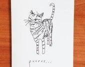 Purrrrr- Handmade Card