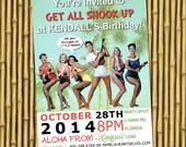 You Print Elvis Presley beach party invitation DIGITAL birthday customize