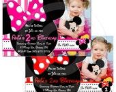 Printable Birthday invitation minnie mouse DIGITAL customize