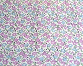 Maywood Fabric - Lavender Blue Wild Flowers - Cotton Quilt Fabric