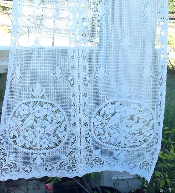 White French Country Lace Curtain Panel