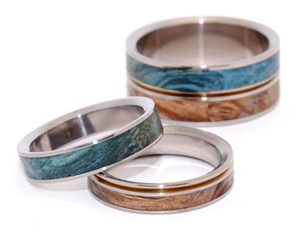wedding rings, titanium rings, wood rings, mens rings, Titanium Wedding Bands, Eco-Friendly Wedding Rings, Wedding Rings - HEAVEN ON EARTH