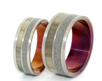 Titanium wedding ring, wedding ring, titaniun rings, mens ring, womens rings, eco-friendly - JUNIPER FLOWERS