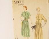 Vintage 1950s Vogue One piece Dress Pattern 7659 size 14