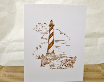 Cape Hatteras Lighthouse Note Card Set, Nautical Themed Note Cards, Cape Hatteras North Carolina