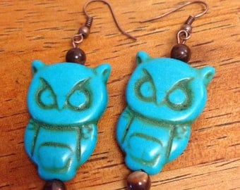 Autumn Owls Necklace and Earring Set