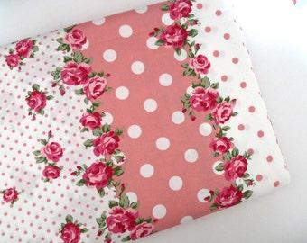 Lolita fabric, Cotton fabric, Japanese fabric, Red roses, Retro fabric, Quilt fabric, DIY crafts,1 yard FB140