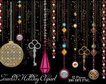 Jeweled ornaments | Etsy