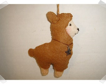Lama Ornament/Felt/ Single Or Set of 2/Handmade/Plain OR Embroidery work*/MADE to Order**