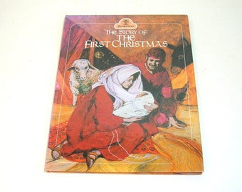 The Story Of The First Christmas Vintage Childrens Book By Pauline Palmer Meek