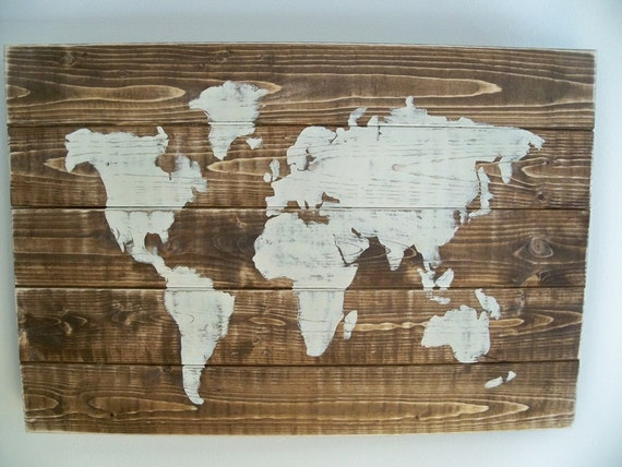 World Map Wall Hanging items similar to world map wood wall hanging on dark walnut stain