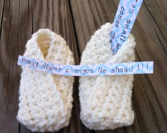 Newborn Crossover Booties Fortune Cookie Booties