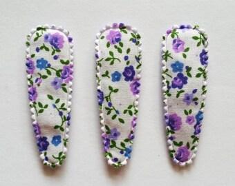 25 pcs - purple Florist Flower Hair Clip COVERS - size 55 mm