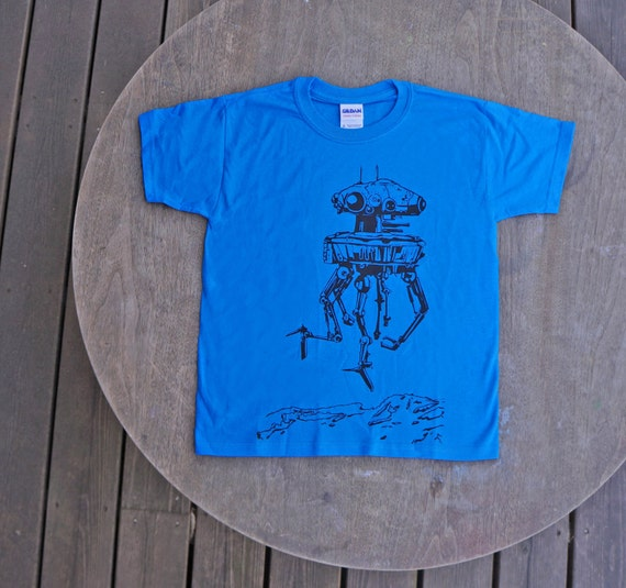 Star Wars T-Shirt Imperial Probe droid from the planet Hoth  in Bright Blue or Bright Green