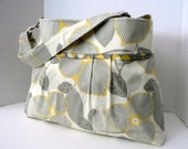 Monterey Diaper Bag Medium - In Optic Blossom And Martini - Adjustable Strap and Elastic Pockets