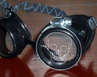 Steampunk Goggles Airship Captain Apocalyptic Mad Scientist Victorian Limited lens goth cyber club house P03