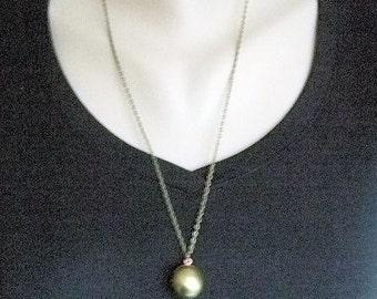 Ball Locket Necklace Vintage