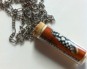 Shell Postage in a Vial - Necklace