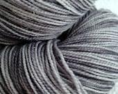 Hand Dyed Silver Sparkle Sock Yarn Hand Painted sockyarn 463 yards superwash merino fingering weight