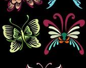 FANTASTIC FLUTTERBYS - 66 Machine Embroidery Designs Instant Download 4x4 5x7 6x10 hoop (AzEB)