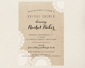 Burlap and Lace Bridal Shower Invitations