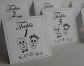 classic . table numbers - Day of the Dead Wedding Table Numbers