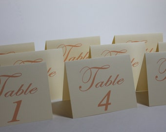 gatsby . table numbers - Ivory Table Numbers