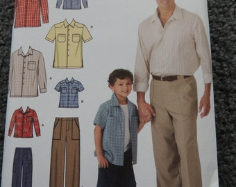 Simplicity 4760 Boy's and Mens Shirt and Pants