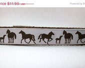 Three Styles Sookie Wrap Childrens Belt Horses in White