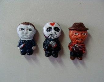 Classic Monster  Refrigerator Magnets set D (Full Body Cutie Style)