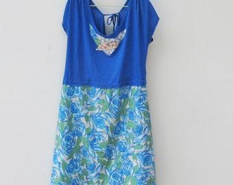 Blue Rose Sundress