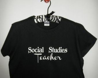 Social Studies Teacher   Ladies T-Shirt     FREE SHIPPING