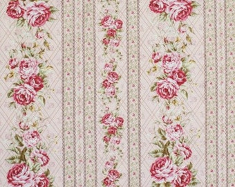 Kilala Elegant Roses QMS201205 15A cotton Fabric by  QH Textiles Stripe
