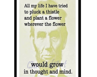 Abraham Lincoln Quoted Art print
