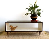 Handmade Coffee Table Mid Century Modern White and Chocolate Brown Stained (or custom color) Coffee Table/ Modern Midcentury MCM