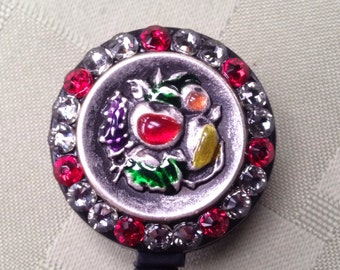 Security Badge Holder - Bountiful Evening Red