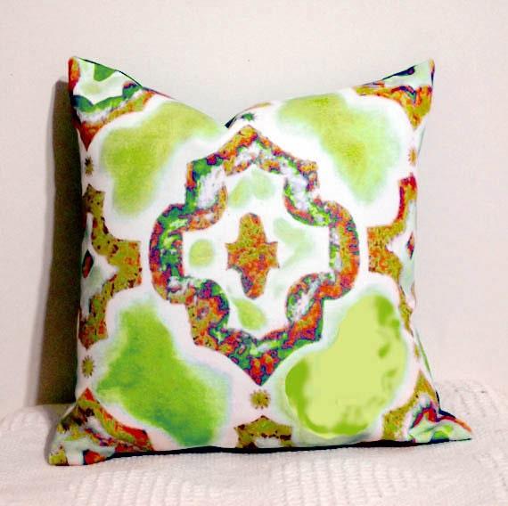 Throw Pillow, Moroccan Pillow, Decor Throw Pillow Cover, Chartreuse, Modern 16 inch Cover, Sofa Pillows, Room Decor
