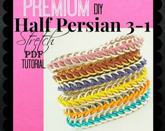 Premium Half Persian 3-1 Stretch Chainmaille Bracelet Tutorial