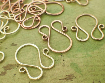 3 Simple M Links, Clasps, Bails 35mm X 35mm - Nickel Silver, Stainless, Copper, Brass, Bronze, Sterling Silver, Argentium, 14kt Gold Filled