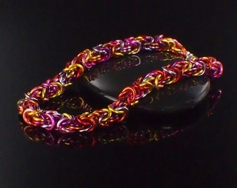 My First Byzantine Bracelet Kit - Chainmaille Jewelry for Beginners - You Pick the Color Mix
