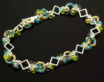 Hip To Be Square Bracelet Kit - Fast and Easy - You Pick Color