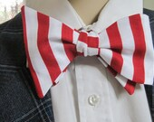 Dr Suess Striped Bow Tie